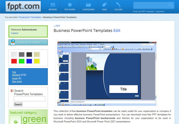 Powerpoint Templates Website